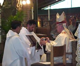 Fr. Damien Gjonaj at his priestly ordination